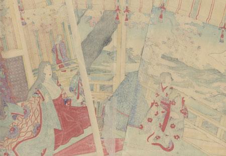 Crane Painting Taking Flight by Nobukazu (1874 - 1944)