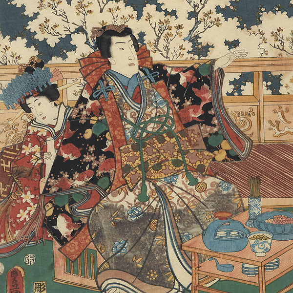Pleasure/Music, 1854 by Toyokuni III/Kunisada (1786 - 1864)