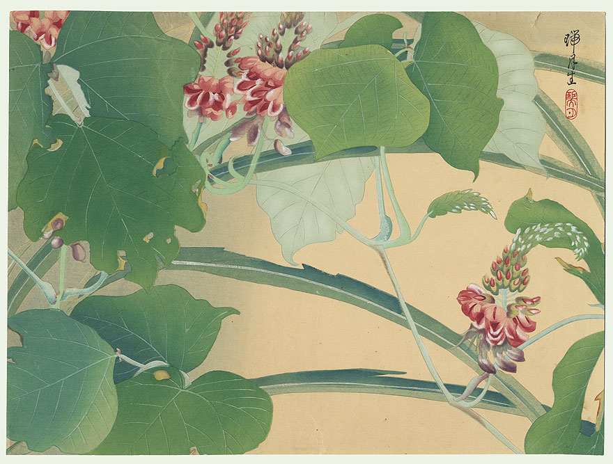 Mauve Blossoms and Leaves by Zuigetsu Ikeda (1877 - 1944)