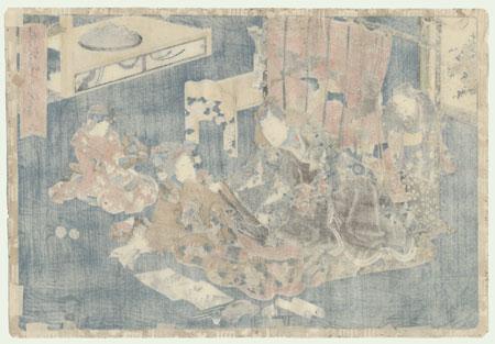 Suetsumuha na, Tale of Genji, Chapter 6 by Toyokuni III/Kunisada (1786 - 1864)