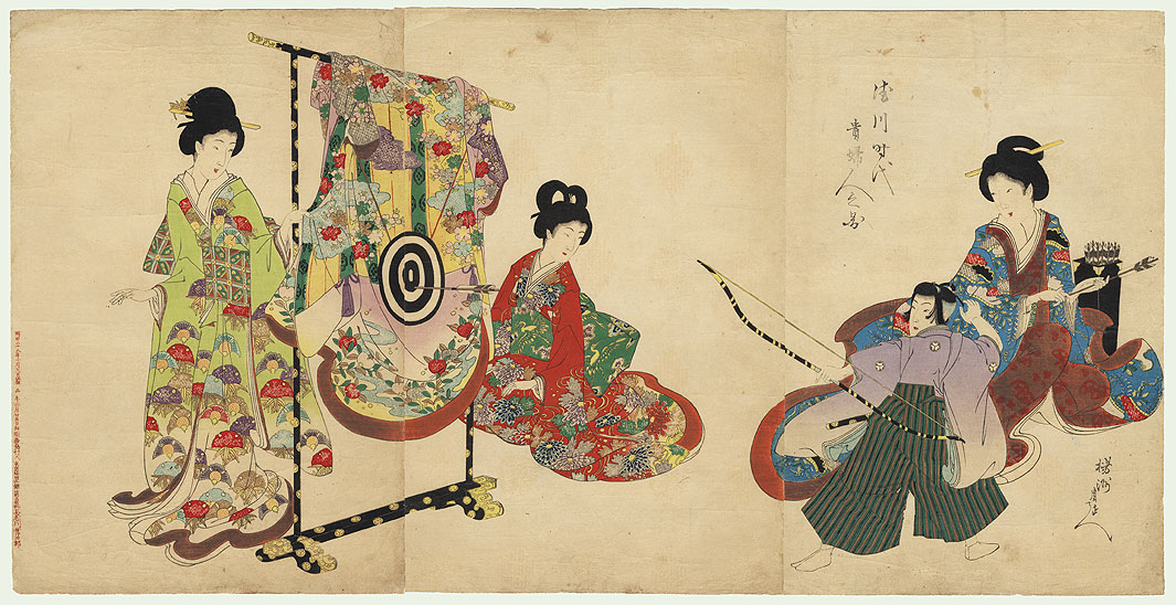 Archery Practice by Chikanobu (1838 - 1912)