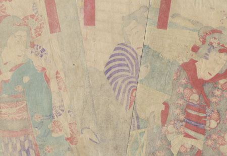 Elderly Man in a Country Home by Kunisada III (1848 - 1920)