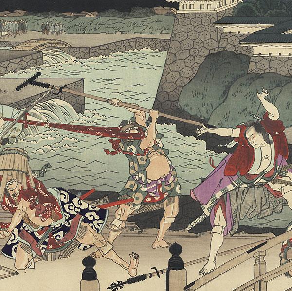 47 Ronin, Act 3 by Hokusai (1760 - 1849)