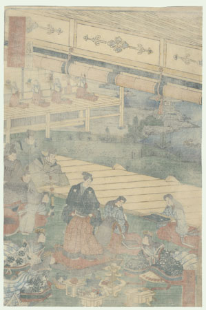 Kyoto: Preparing to Go Out by Yoshimori (1830 - 1884)