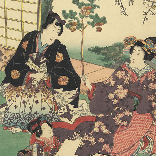 Hatsune, Chapter 23 by Kunisada II (1823 - 1880)