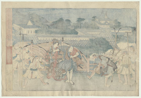 The 47 Ronin, Act 3: The Rear Gate by Kuniteru (active circa 1820 - 1860)
