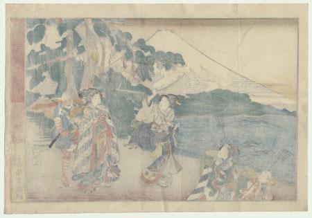 The 47 Ronin, Act 8: Michiyuki (The Bridal Journey) by Kuniteru (active circa 1820 - 1860)
