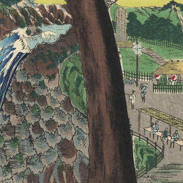Kegon Falls by Hasegawa Chikuyo (active circa 1880)