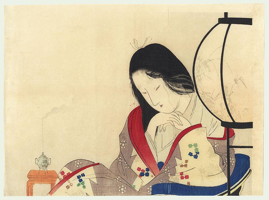 A Wife's Heart Kuchi-e Print, 1901 by Tomioka Eisen (1864 - 1905)