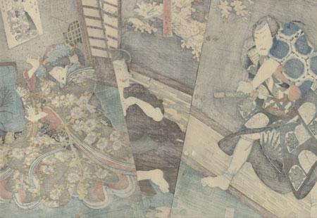 The Ghost of Seigen, 1852 by Toyokuni III/Kunisada (1786 - 1864)