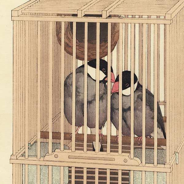 Buncho (Java Sparrow), 1927 by Toshi Yoshida (1911 - 1995)
