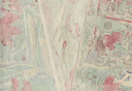 Sneaking up on a Samurai Kabuki Paper Model Set by Meiji era artist (unsigned)