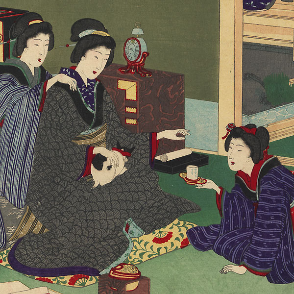Yuu fuku: Wealth by Chikanobu (1838 - 1912)