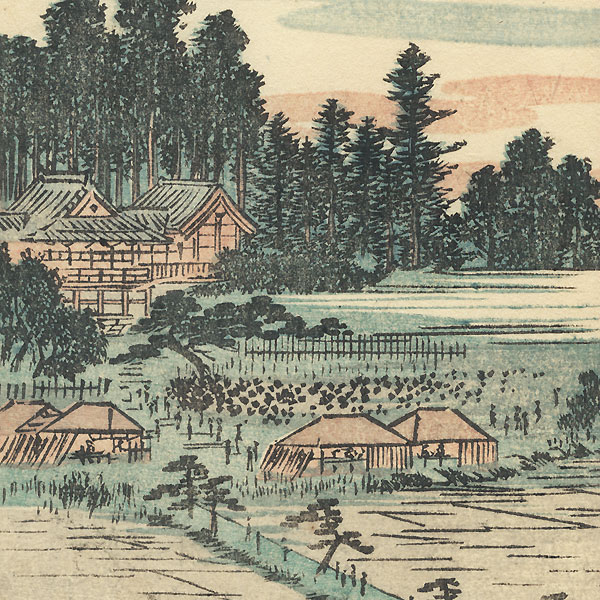 Path through Fields, 1850 by Hiroshige (1797 - 1858)