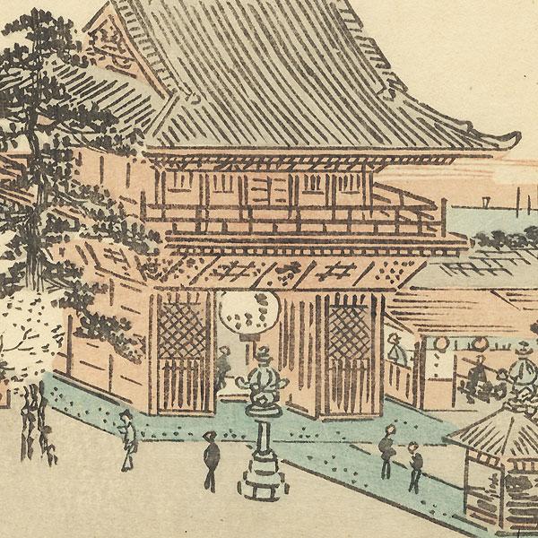 Hilltop Shrine in Spring, 1850 by Hiroshige (1797 - 1858)