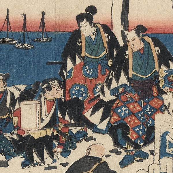 The 47 Ronin, Final Act: Lord Hangan's Tomb by Hiroshige (1797 - 1858)