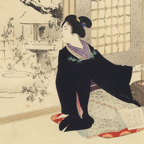 Admiring the Snow,1899 by Toshikata (1866 - 1908)