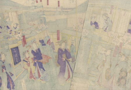 Teahouses and Beauties by Kunisada III (1848 - 1920)