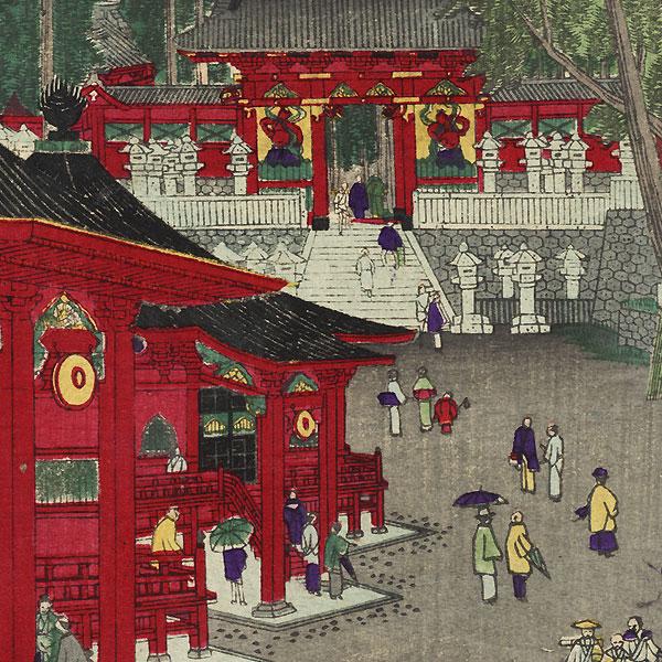 Futatsu Hall, Nikko by Hasegawa Chikuyo (active circa 1880)