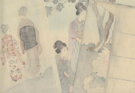 April by Shuntei (1873 - 1914)