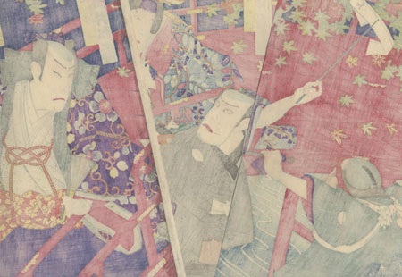 Scene from the Higashiyama Storybook by Kunichika (1835 - 1900)