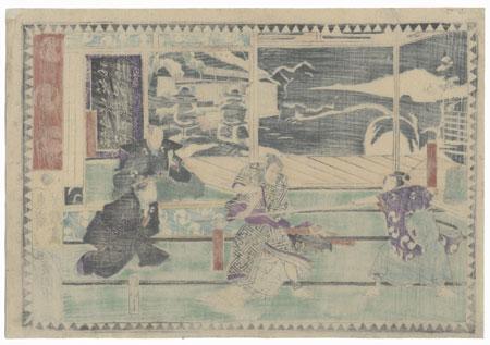 The 47 Ronin, Act 9: Yuranosuke's Country Retreat at Yamashina, 1868 by Yoshiiku (1833 - 1904)