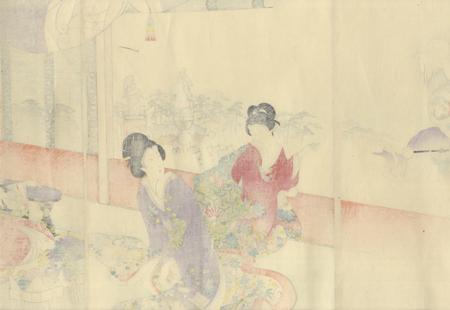 Parading Pounded Rice Cakes, 1895 by Chikanobu (1838 - 1912)