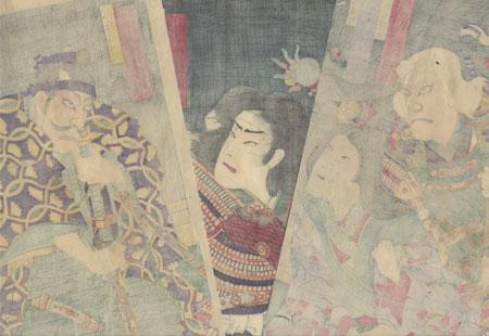 Angry Young Samurai, 1883 by Chikanobu (1838 - 1912)