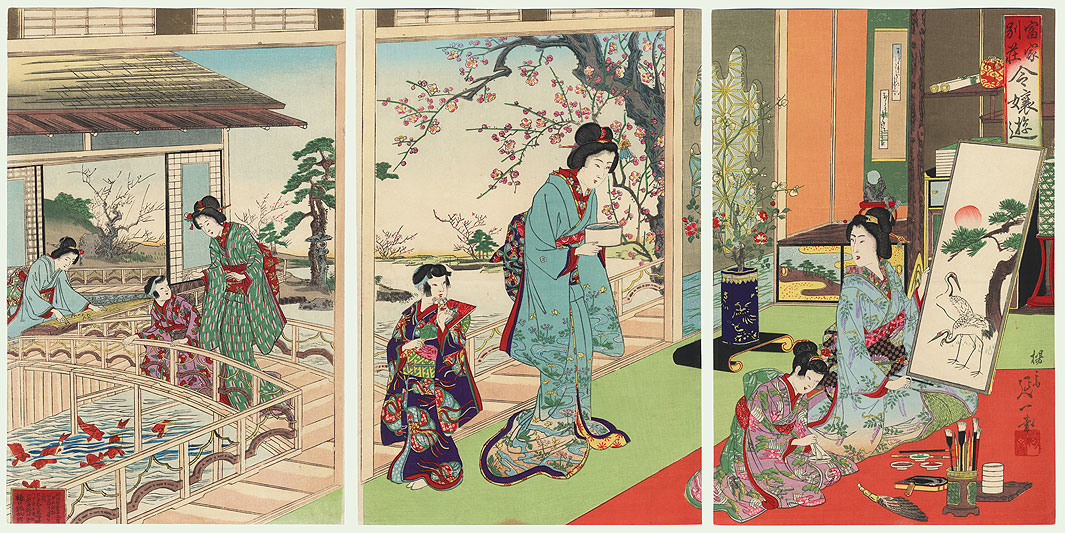 Villa of a Wealthy Family, 1892 by Nobukazu (1874 - 1944)