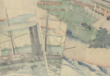 Minamoto no Yoritomo Proceeding to the Capital, 1864 by Sadahide (1807 - 1873)
