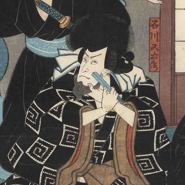 Robber Ishikawa Goemon Shaving, 1851 by Kuniyoshi (1797-1861)