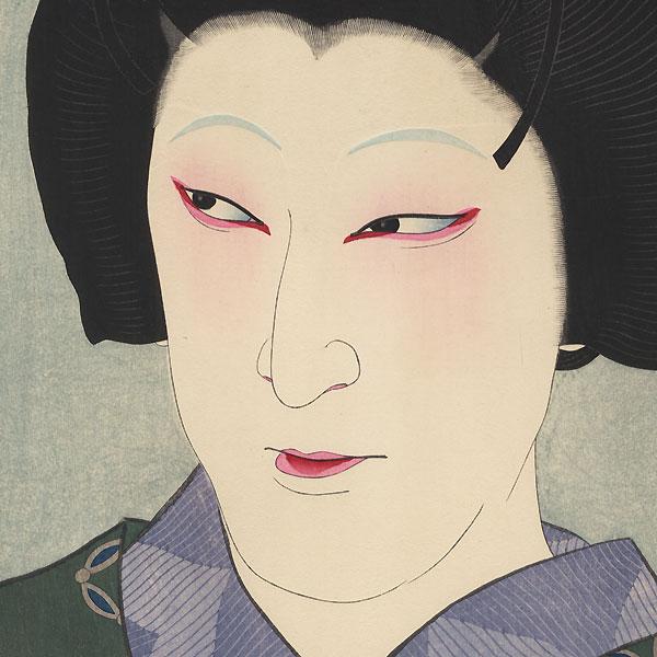 Nakamura Kaisha as Okaru in Yoigoshin, 1928 by Natori Shunsen (1886 - 1960)