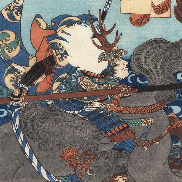 The Great Battle of Anegawa, 1866 by Yoshitoshi (1839 - 1892)
