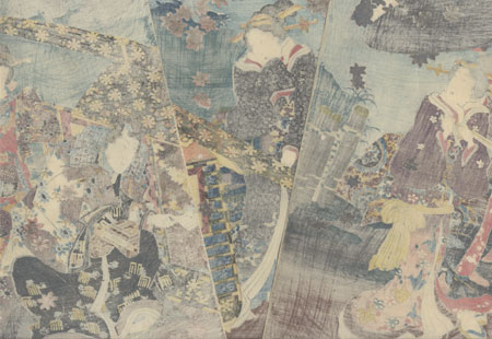 A Canopy of Maple Leaves, the Patterned Strings of a Koto, 1847 by Toyokuni III/Kunisada (1786 - 1864)