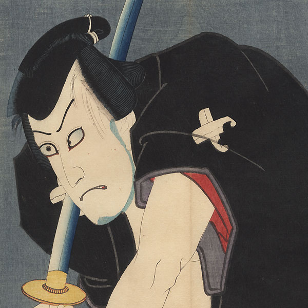 47 Ronin, Act 5: The Yamazaki Highway, 1859 by Toyokuni III/Kunisada (1786 - 1864)