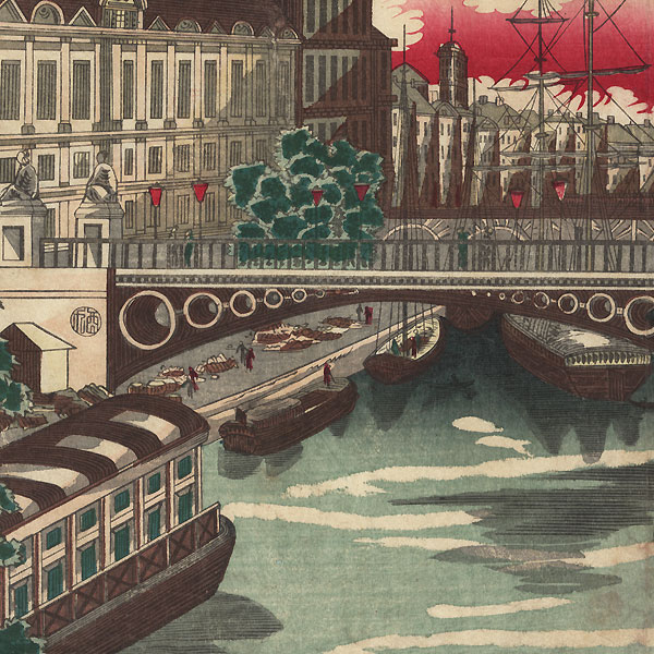 View in London: Prosperity of Countries: London, England, 1872 by Yoshimori (1830 - 1884)