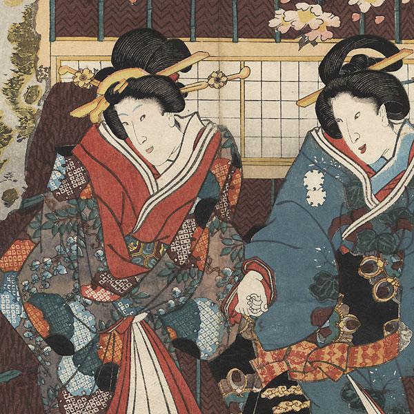 Spring Night Scene from Inaka Genji, 1847 - 1852 by Toyokuni III/Kunisada (1786 - 1864)