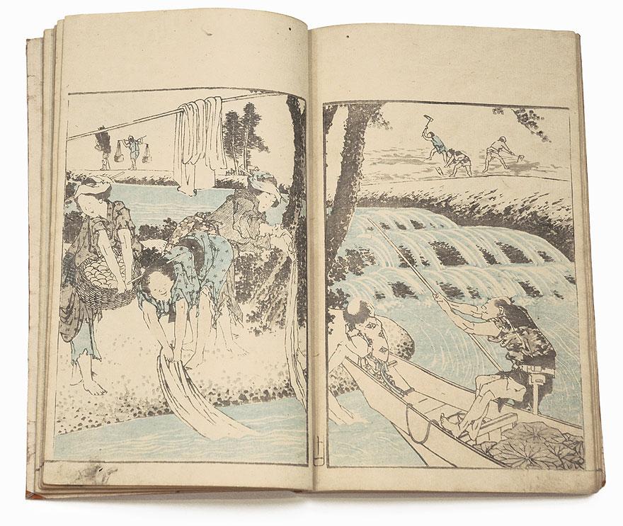 A Hokusai Album (Hokusai gafu), Volume 1, 1849 by Hokusai (1760 - 1849)