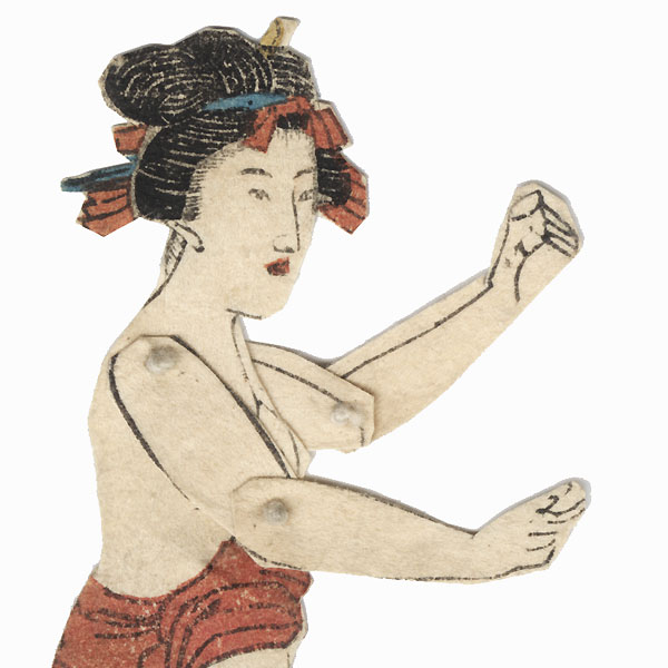 Articulated Shunga Paper Toy Prints by Edo era artist (unsigned)