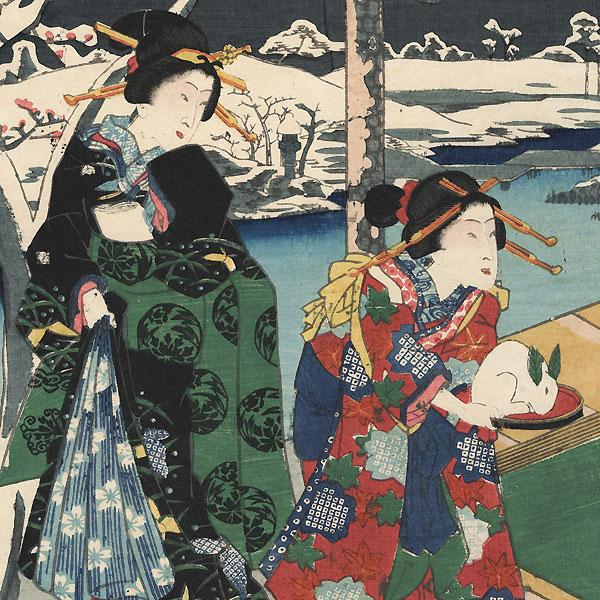Winter, 1861 by Fusatane (active circa 1850 - 1870)