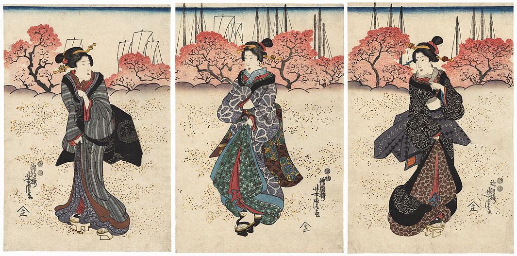 Cherry Blossom Viewing, 1847 - 1852 by Yoshitora (active circa 1840 - 1880)