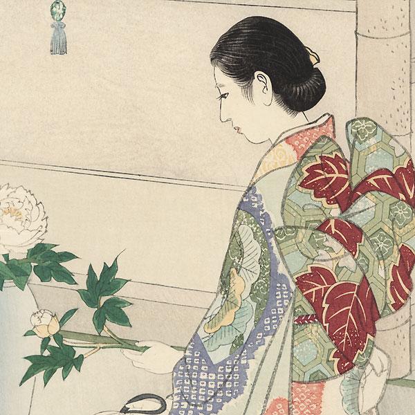 Flower Arrangement (Ikebana), 1938 by Shiro Kasamatsu (1898 - 1991)