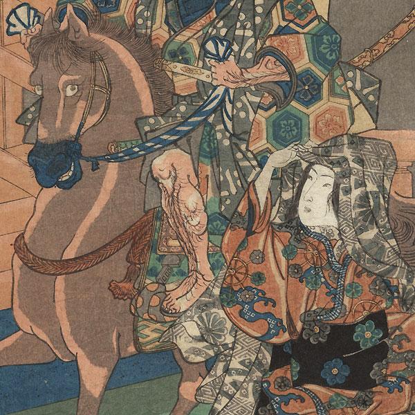 Hashihime (The Lady at the Bridge) by Kuniyoshi (1797 - 1861)