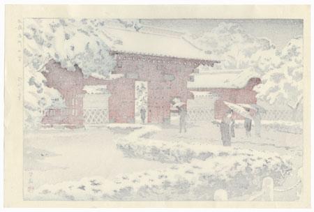 Red Gate at Hongo in Snow, 1935 by Shiro Kasamatsu (1898 - 1991)