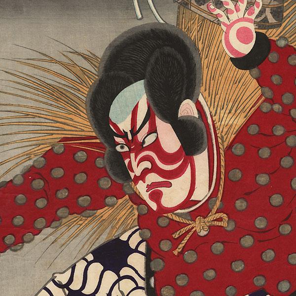 Ichikawa Sadanji as Watonai, 1883 by Kunichika (1835 - 1900)
