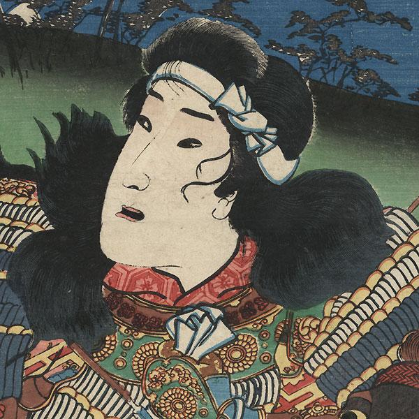 Evening Glow at Awazu  by Kuniyoshi (1797 - 1861)