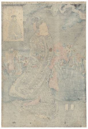 Benzaiten: Beauty in an Iris Garden, 1853 by Kuniyoshi (1797 - 1861)