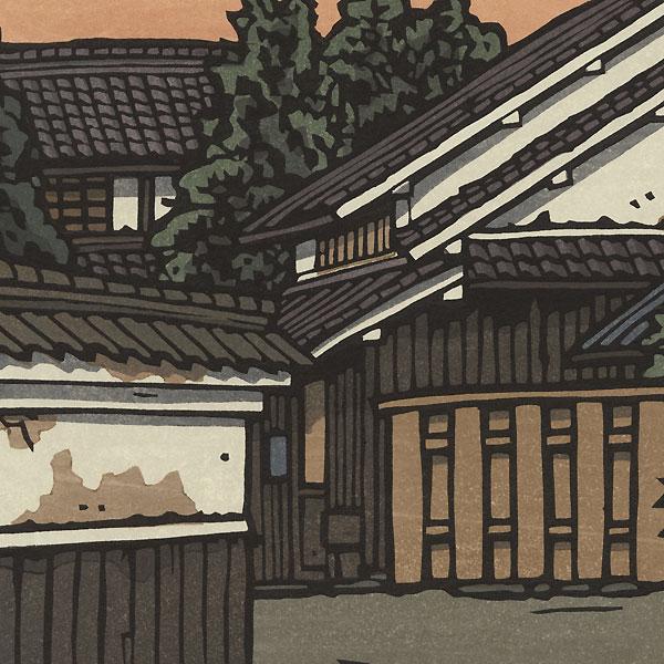 Village at Sunset by Nishijima (born 1945)