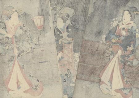 Plum Blossoms at Night, 1853 by Toyokuni III/Kunisada (1786 - 1864