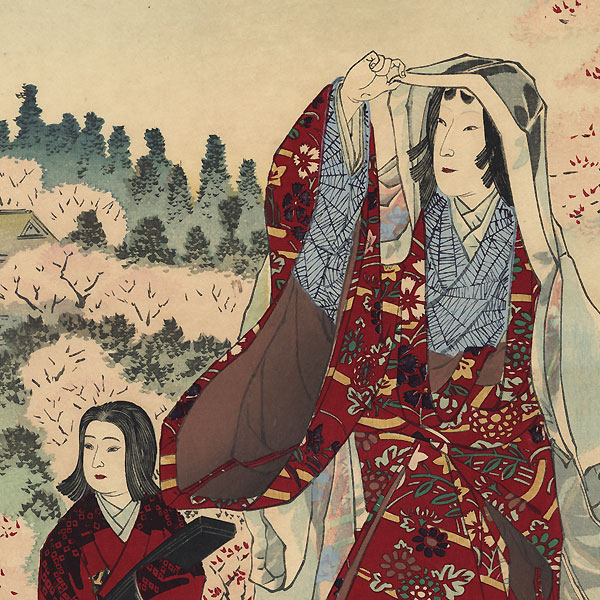 Ono no Komachi by Kiyochika (1847 - 1915)